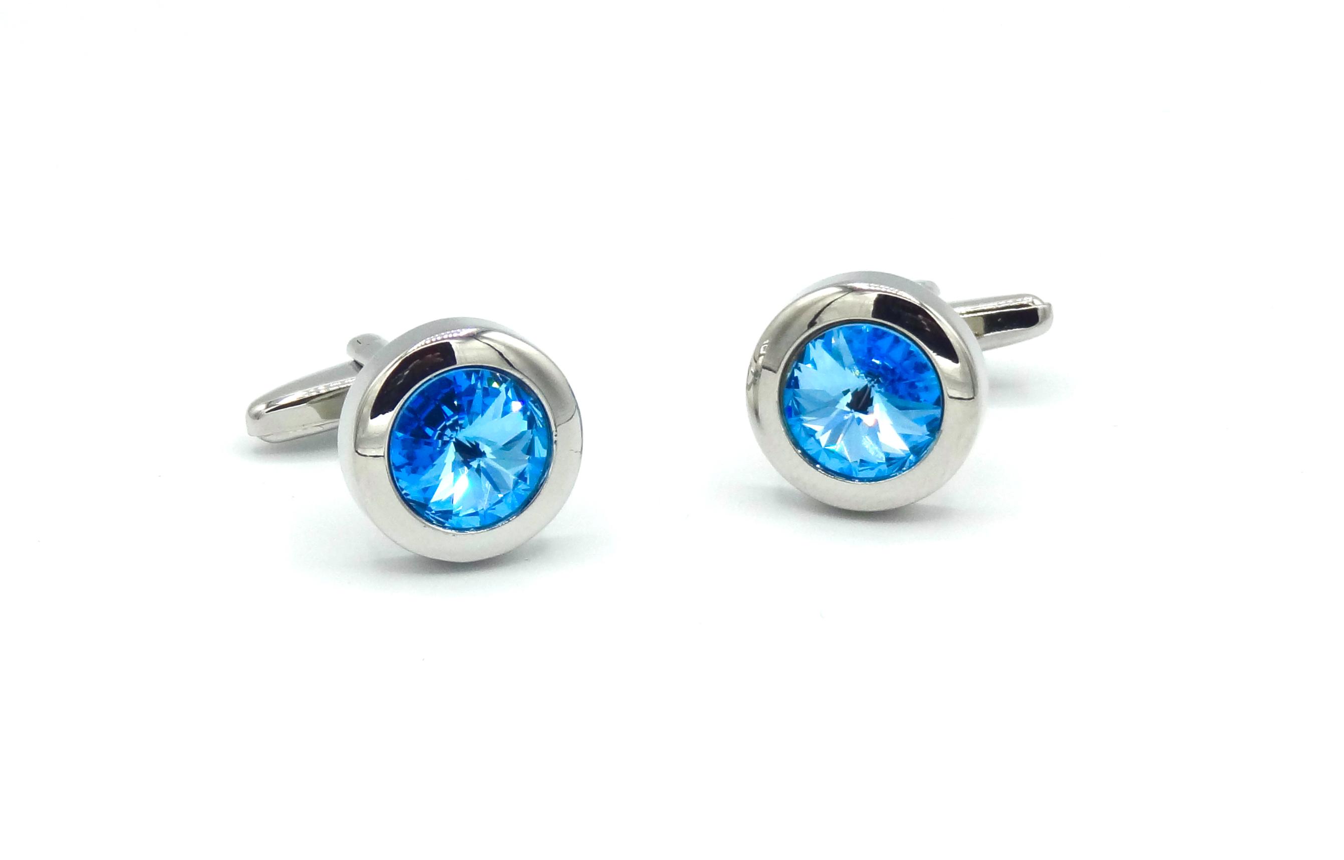 Manchetknopen blauwe diamant
