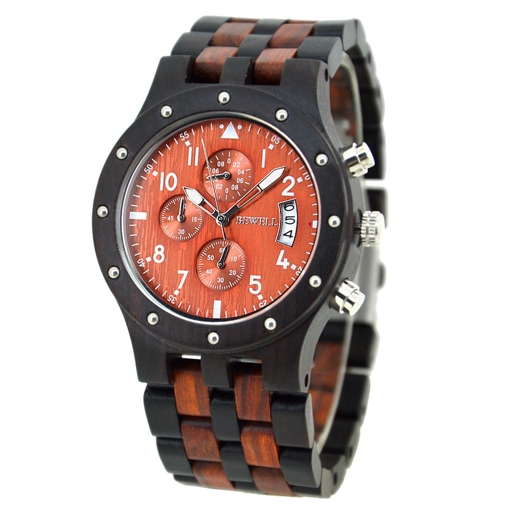Houten horloge Charles