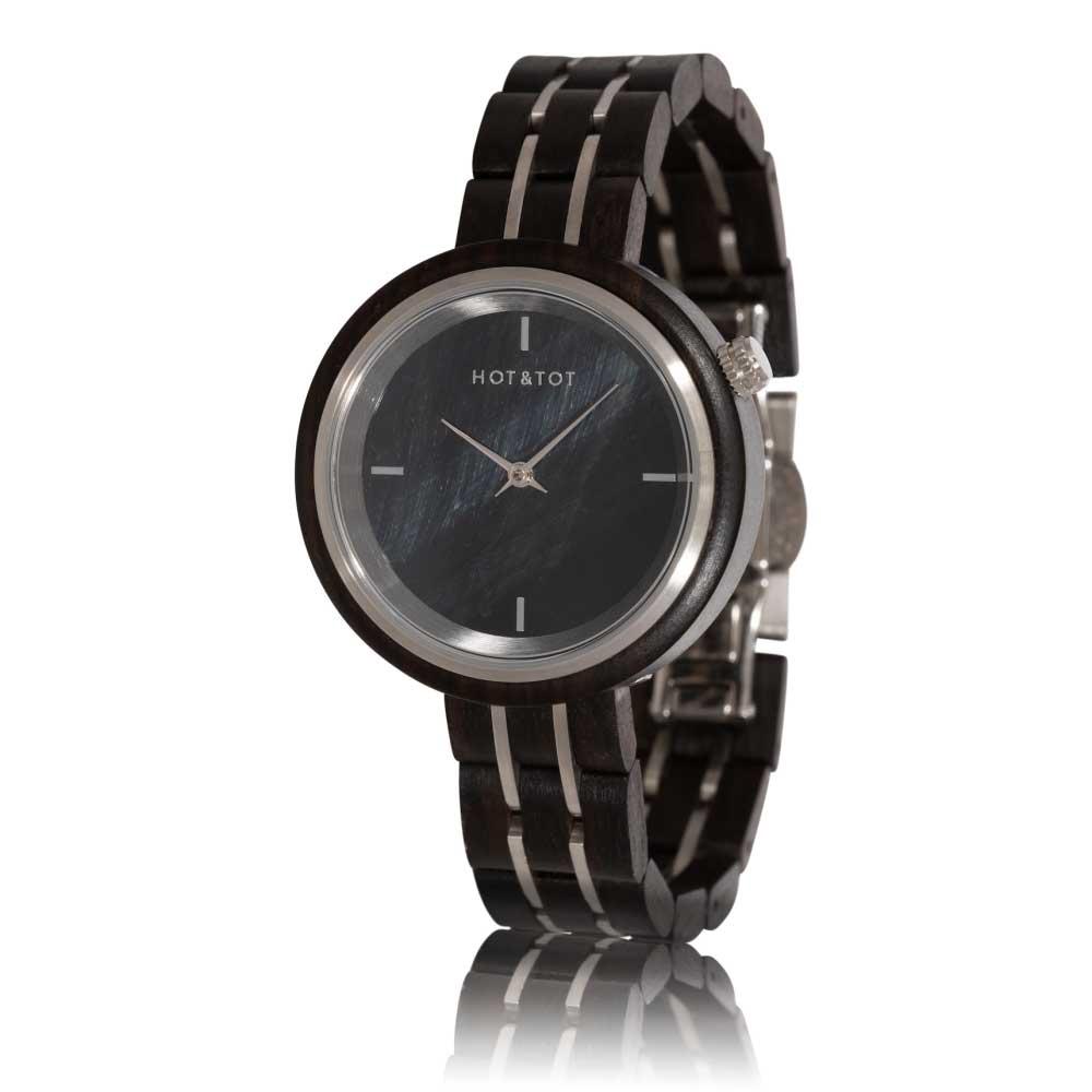 Houten horloge Falcony