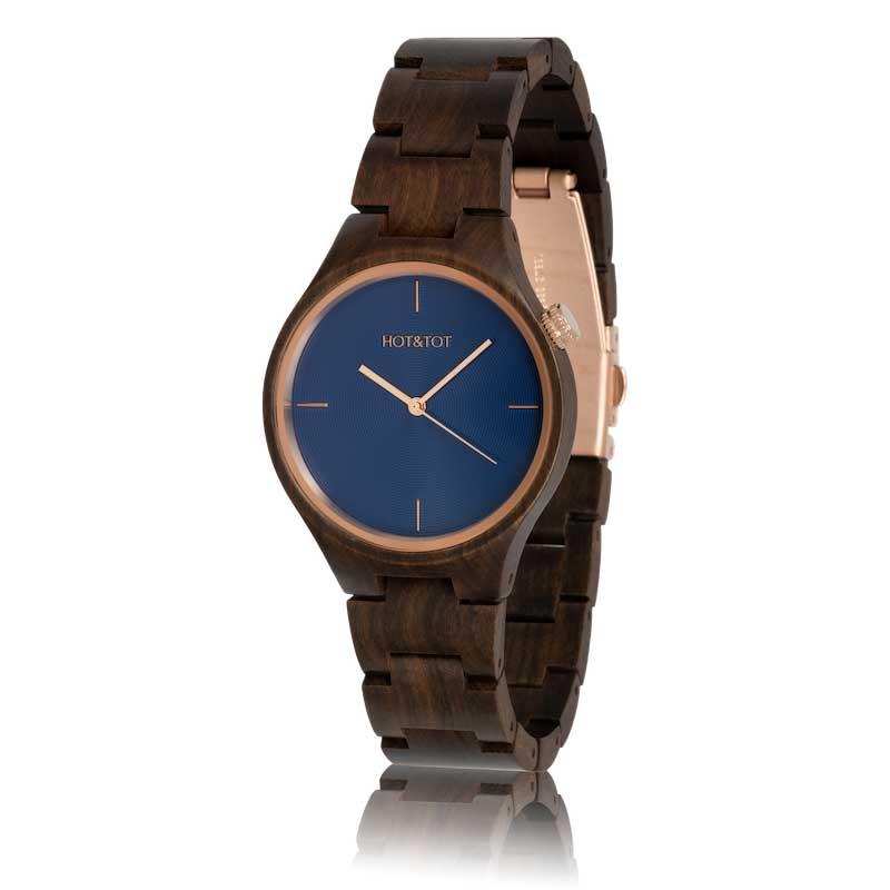 Houten horloge Bixie