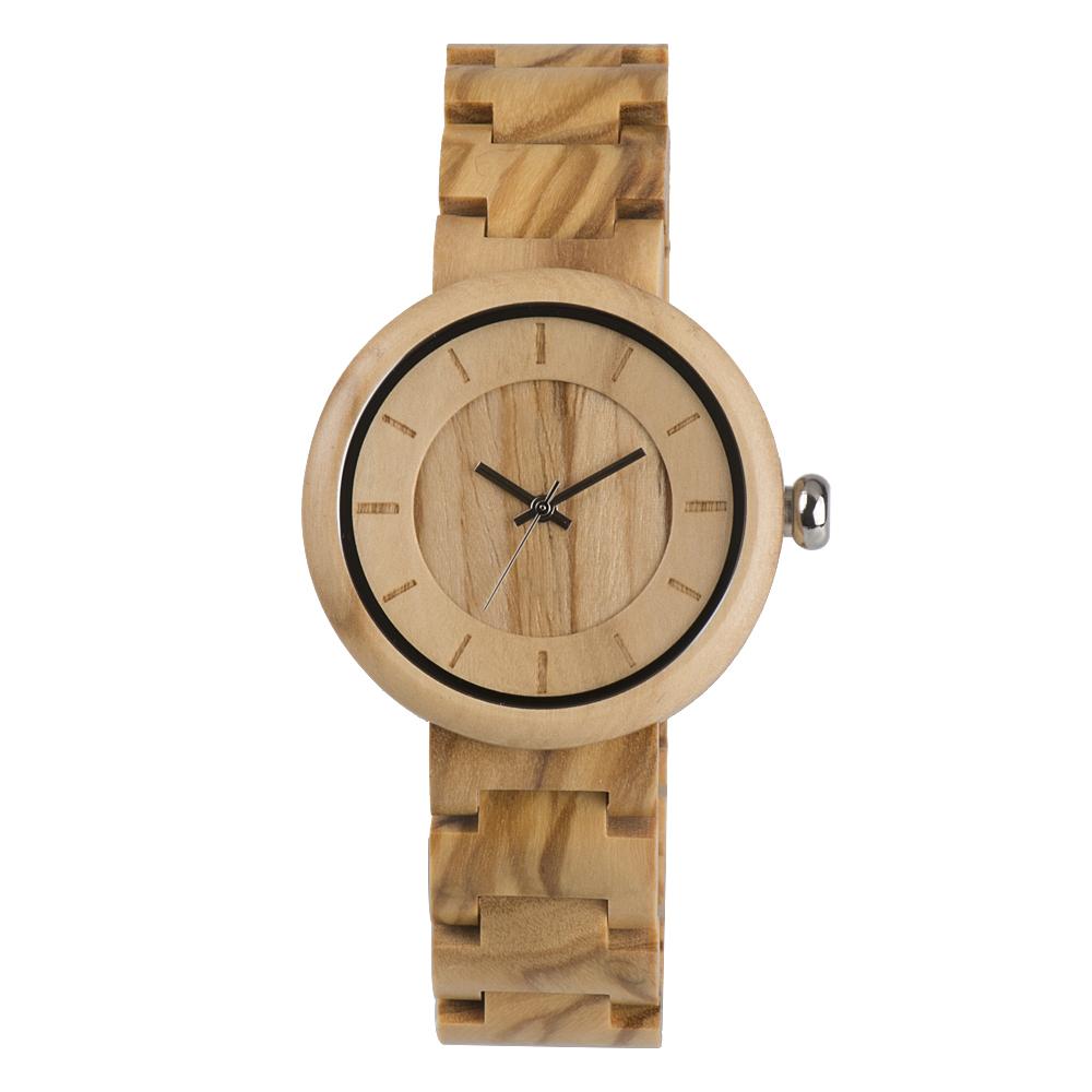 Houten horloge Olive