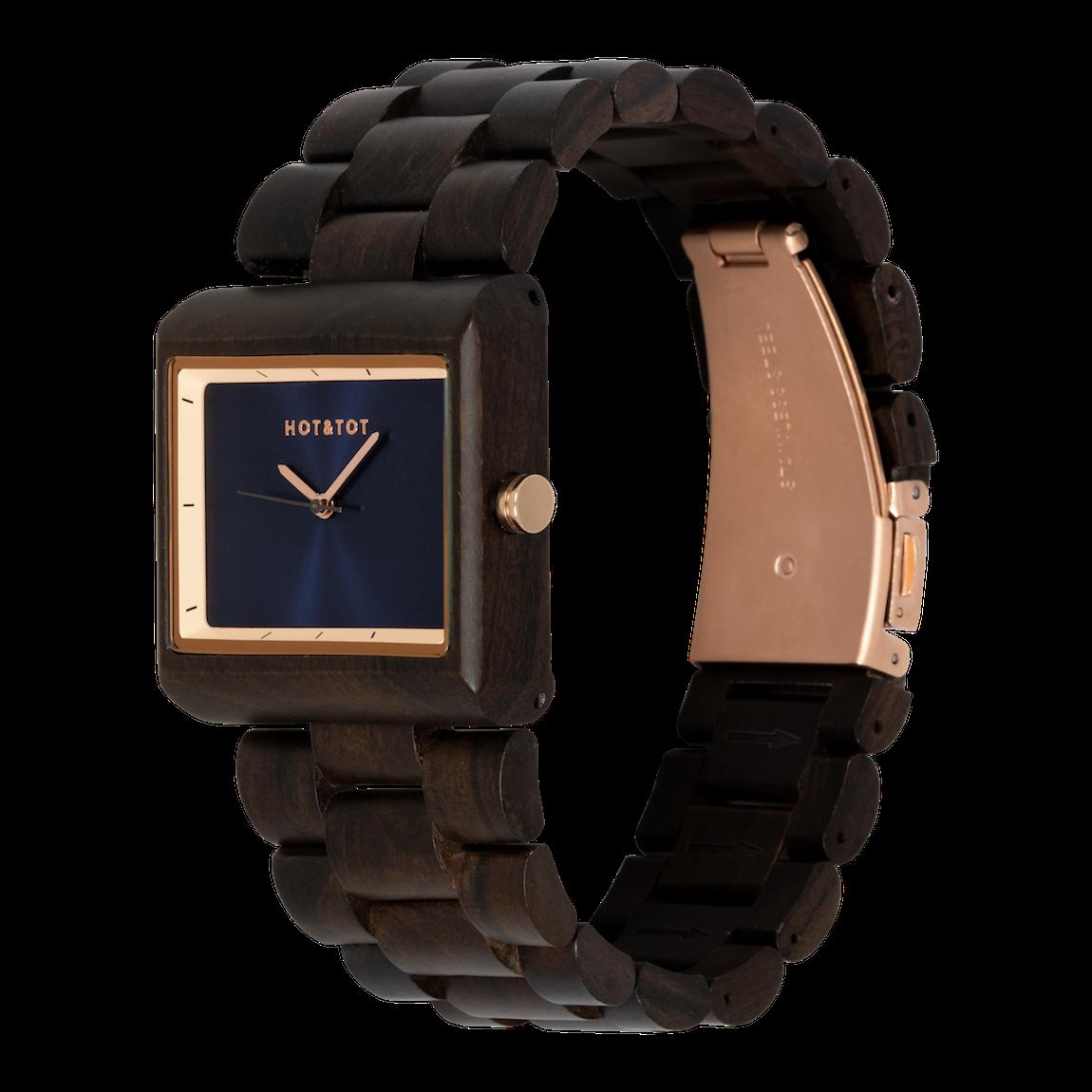Houten horloge Dawn