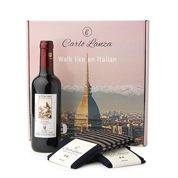 Cadeaupakket Sokken & Rode wijn