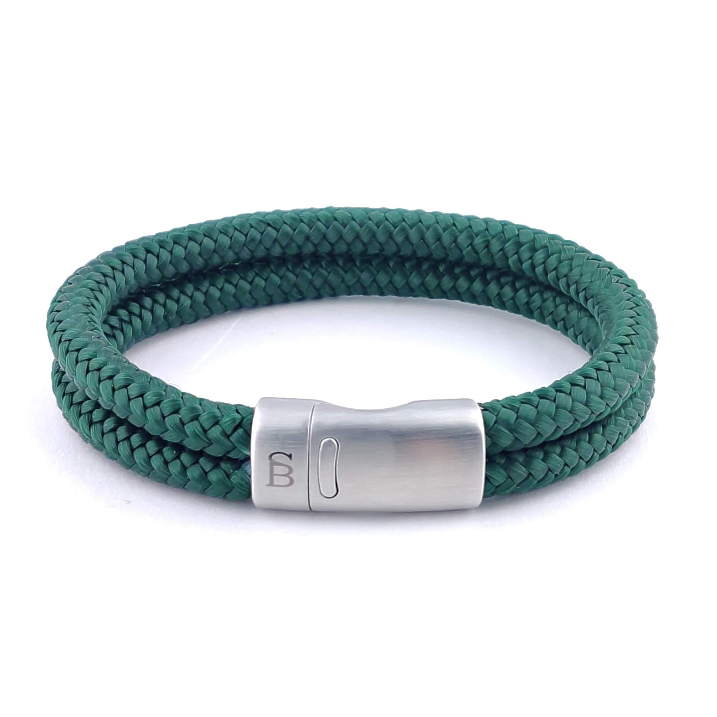 Koord armband Lake Dark Green