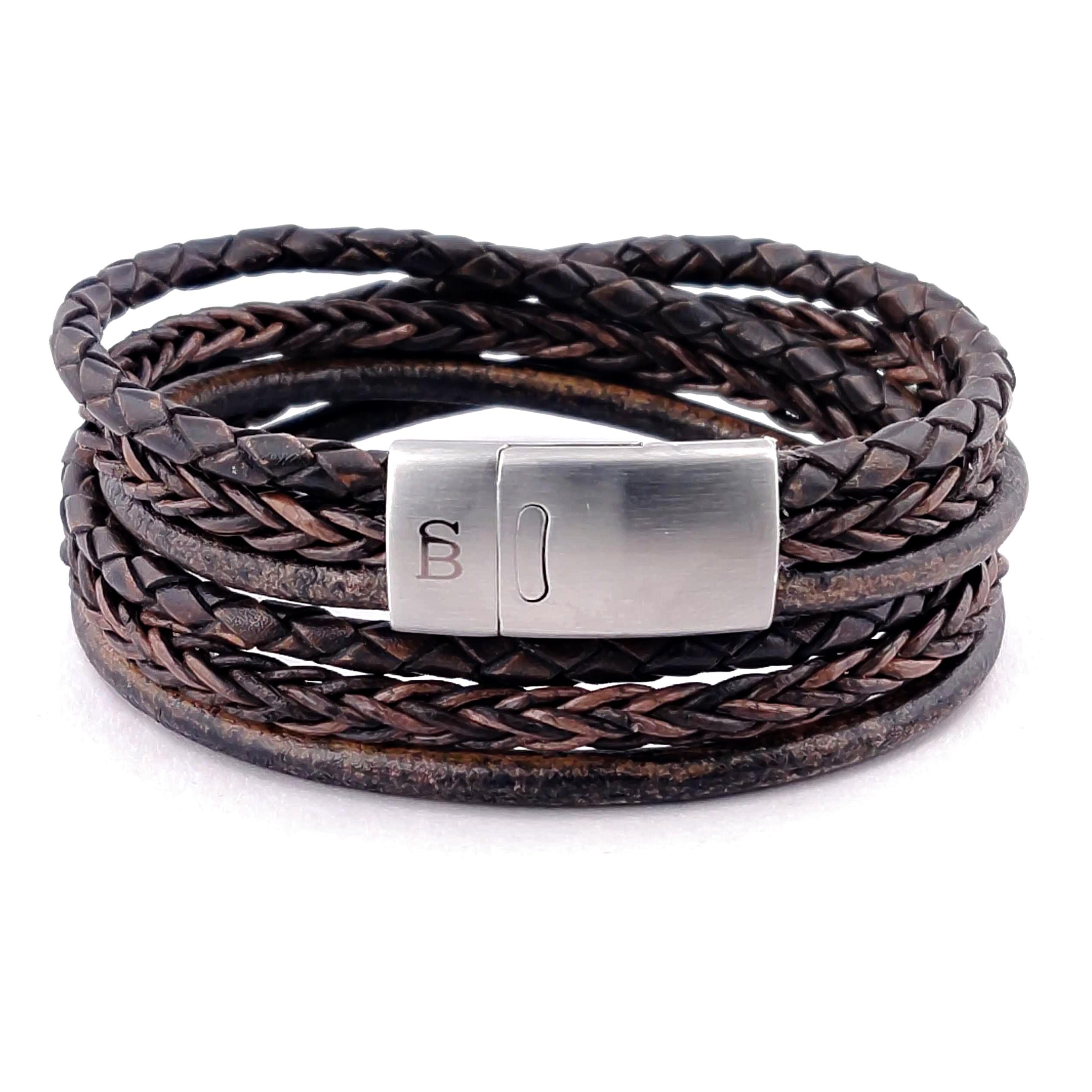 Leren armband Bonacci Dark Brown