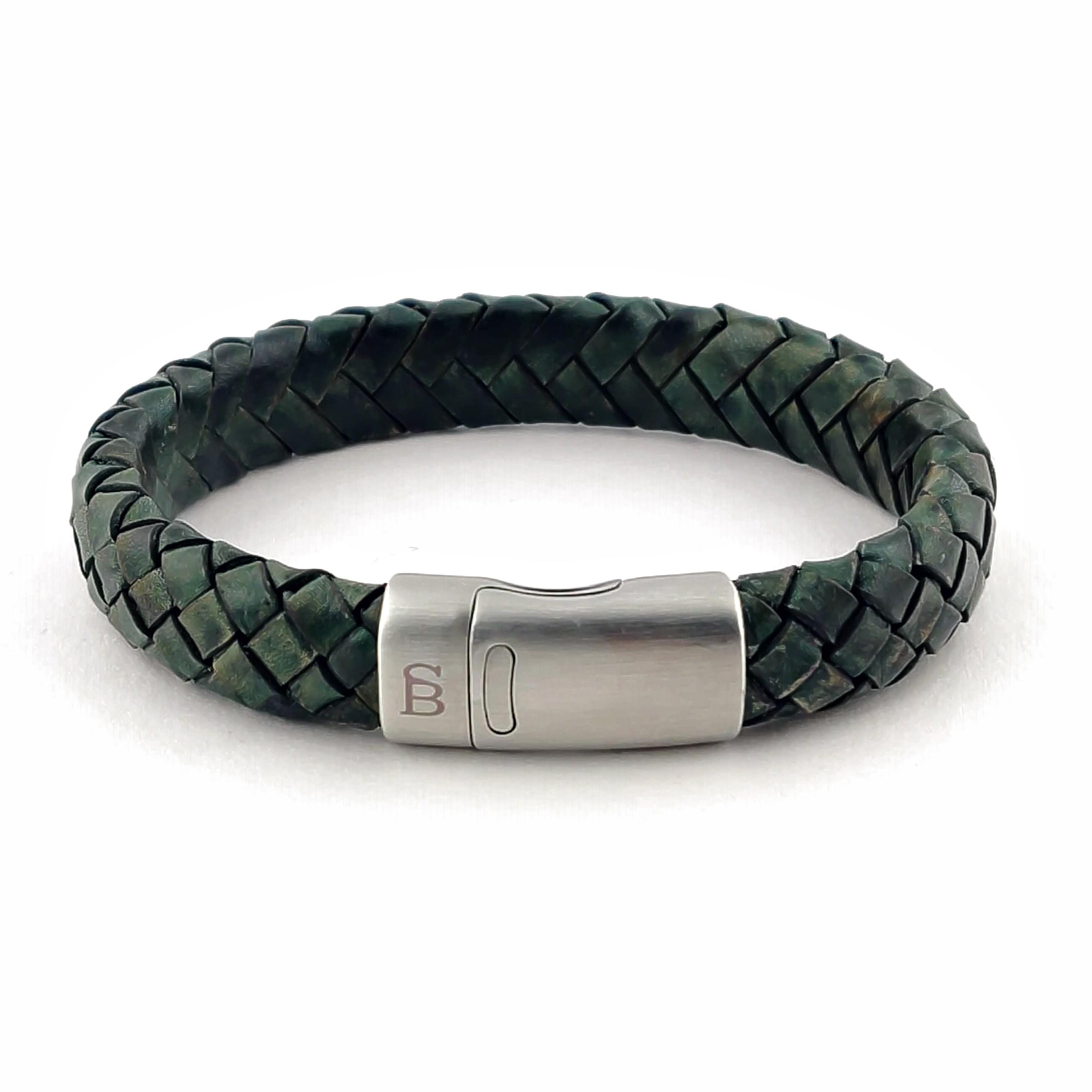 Leren armband Cornall Dark Green
