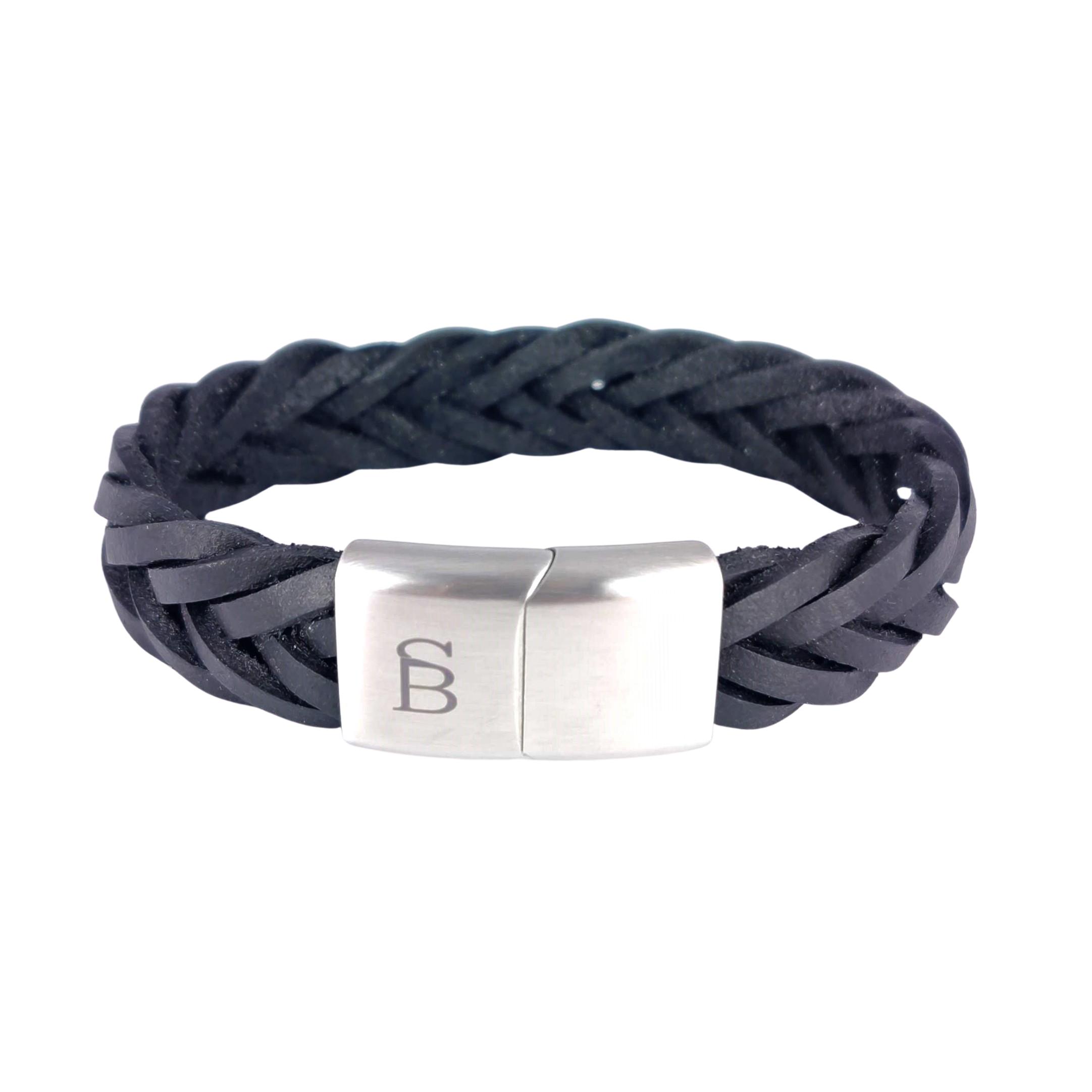 Leren armband Preston Black