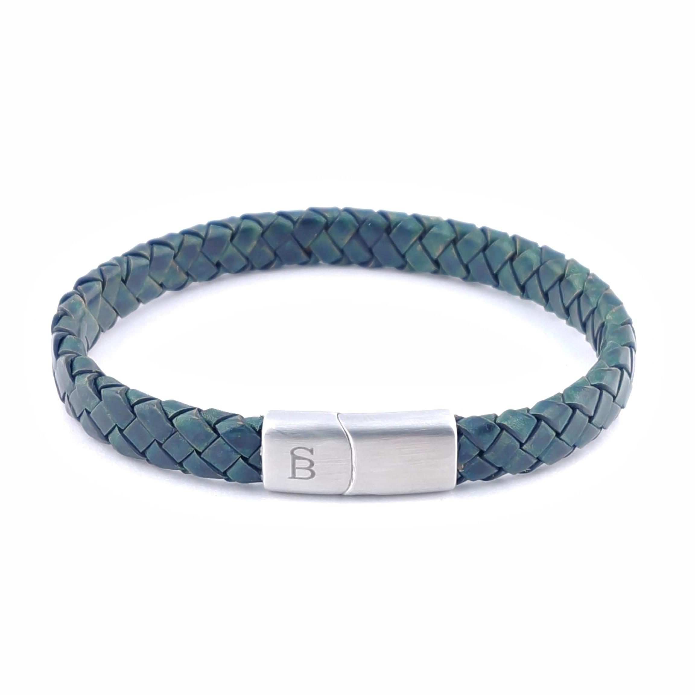 Leren armband Riley Dark Green