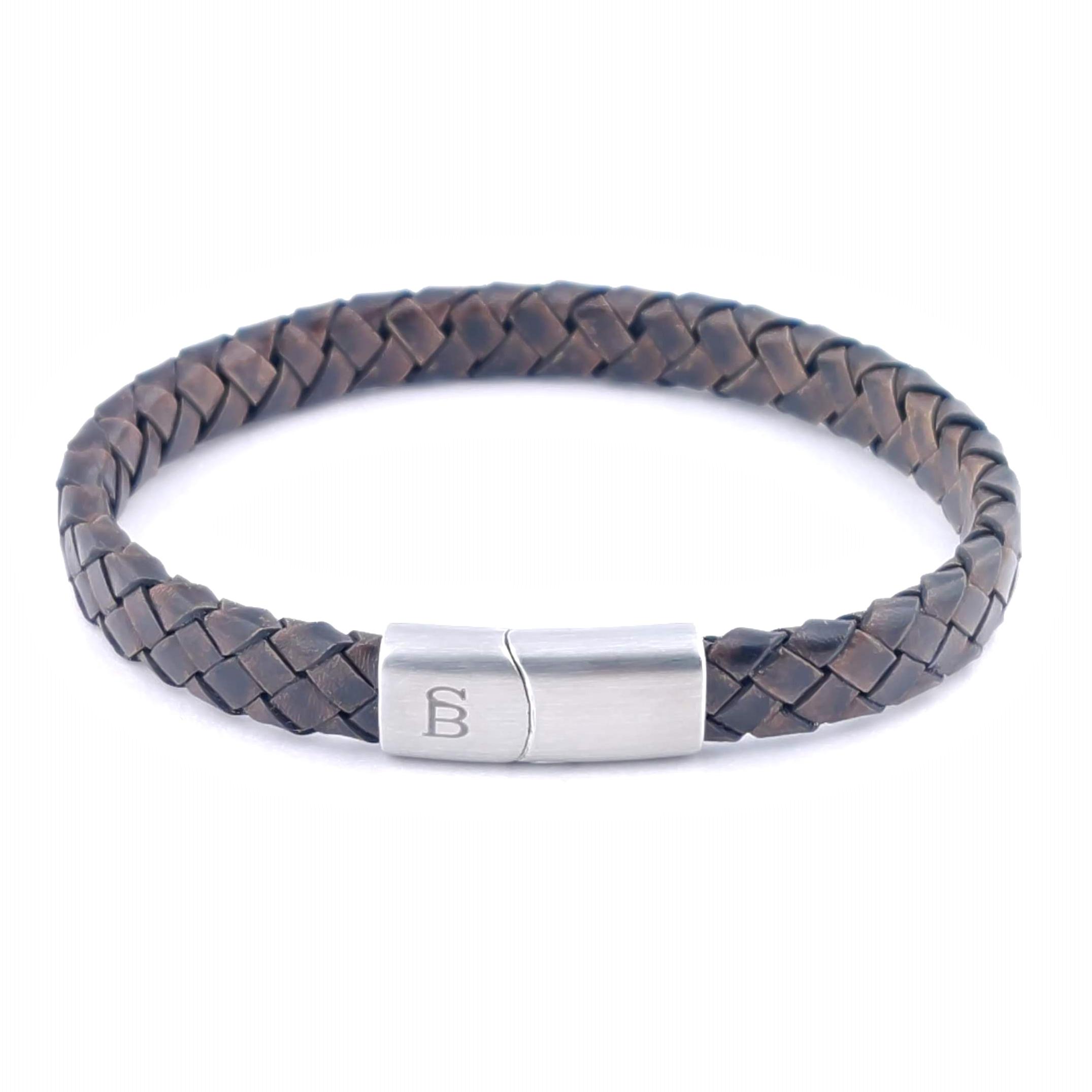 Leren armband Riley Vintage Brown