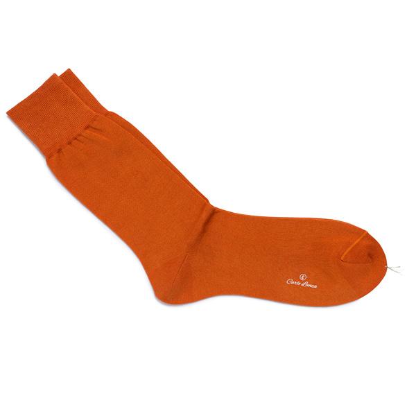 Oranje katoenen sokken